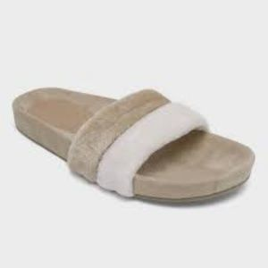 Who What Wear Terry Cloth Pool Slide Sandals